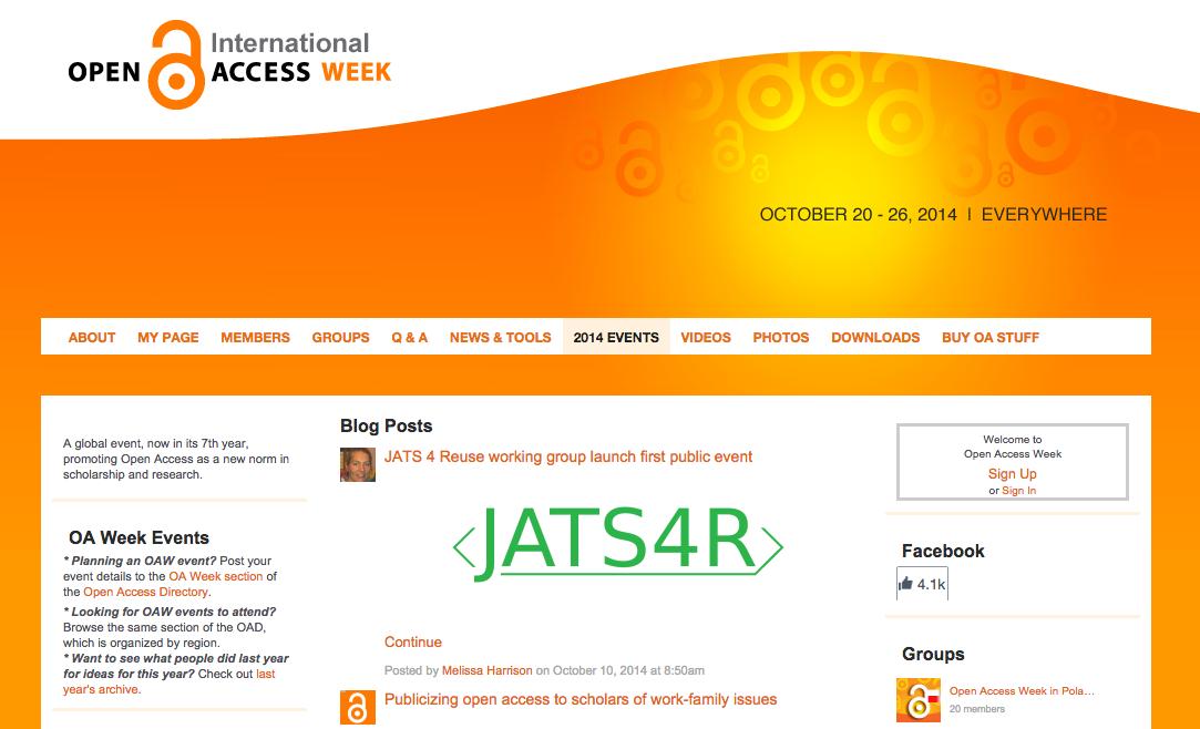 Международная неделя открытого доступа (Open Access Week -- 2014)